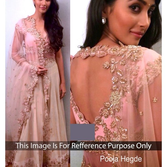 Pooja Hegde Pink Net Bollywood Lehenga Choli
