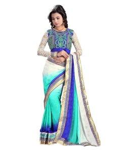Jacquard Designer Saree With Matching Blouse